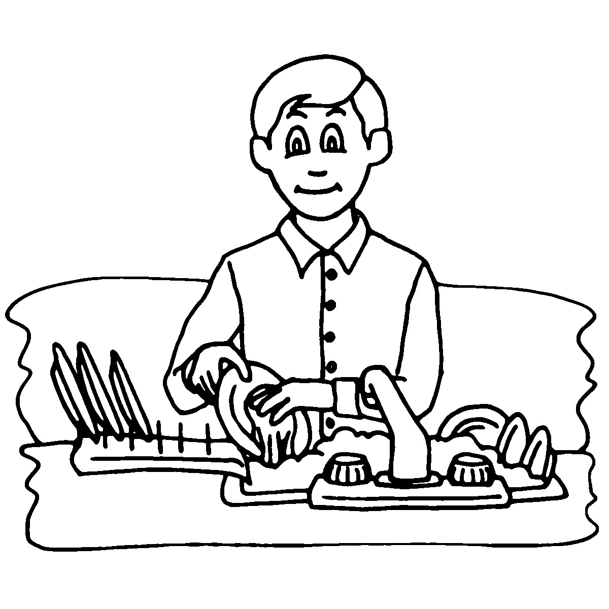 washing coloring pages - photo #29